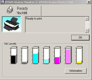 Epson Ink Level Reader