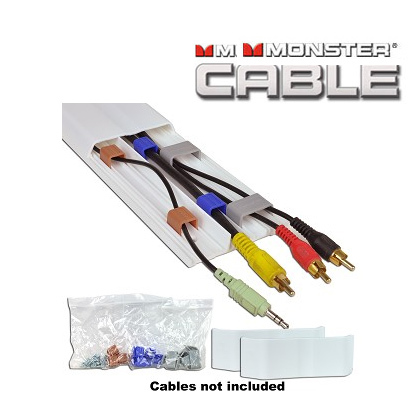 Hide your TV cables--Monster FlatScreen CleanView On-Wall Cable ...