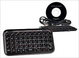 Bluetooth v2.0 Wireless Mini Keyboard- $19.99