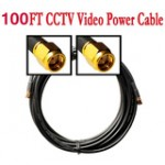 100ft Cable for Security Camera W/BNC&power connector