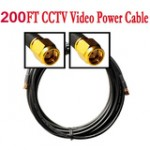 200ft Cable for Security Camera W/BNC&power connector