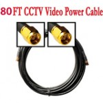 80ft Cable for Security Camera W/BNC&power connector