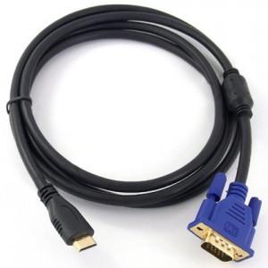 Amazetec 24K Gold 1080P Mini HDMI to VGA HD-15 Male Cable (1M/6FT)