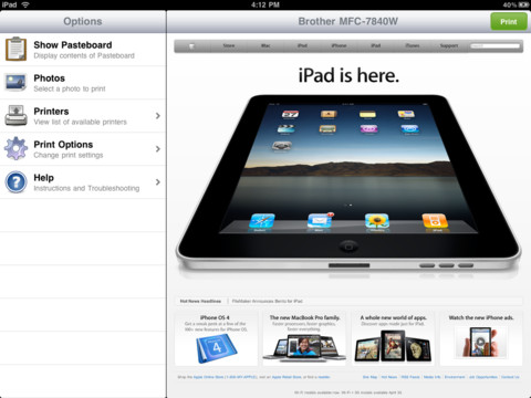 brother mfc 7840w driver for ipad