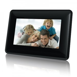 "7"" 480x234 TFT LCD Digital Photo Frame (Black)"