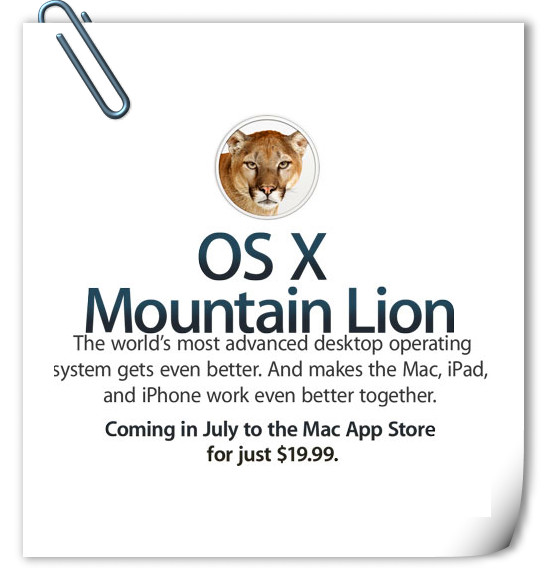New MacBook Pro Moutain Lion