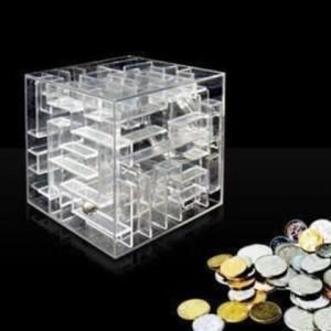 Smart Maze Piggy Bank, Clear crystal