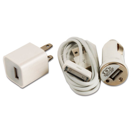 3-in-1-White-Travel-Car-Charger