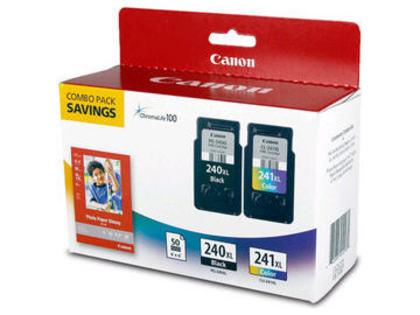 Canon PG-240XL/CL-241XL OEM Black/Color Inkjet Cartridges ,Value Pack