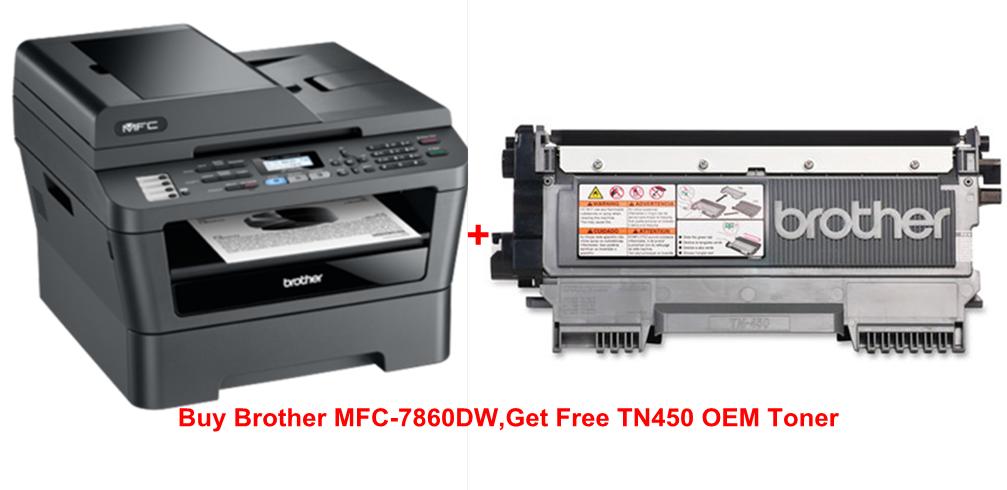 Brother MFC-7860DW Monochrome Laser Printer