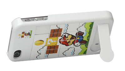 Mario Puzzle Game Hard Cover with Stand for iPhone 4/4S