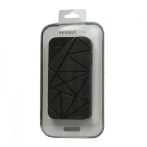Premium 3D Hard Plastic Case Cover for iPhone 4 4S, Black