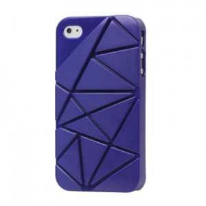 Premium 3D Hard Plastic Case Cover for iPhone 4 4S, Dark Blue