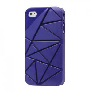 Premium 3D Hard Plastic Case Cover for iPhone 4 4S, Dark Blue