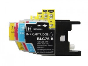 Brother LC75 New Compatible Ink Cartridge Value Pack(BK/C/M/Y) High Yield,compatible for LC71