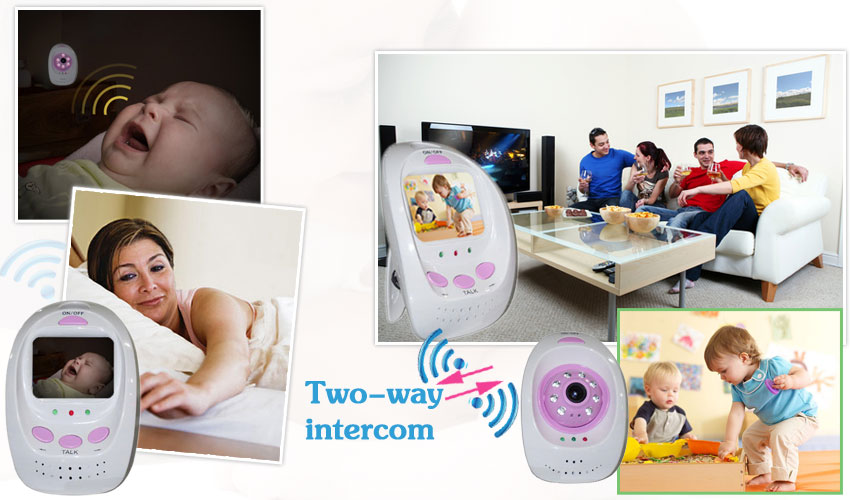 "BM-500 6.5"" LCD,2.4GHz Wireless Digital Baby Monitor ,9-IR LED Night Vision, Two-way ,Muisc play"