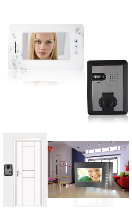 """VD-WJ705C1 2.4GHz, 7"""" TFT Monitor 300KP Video Door Phone ,with 6-IR LED Night Vision"""