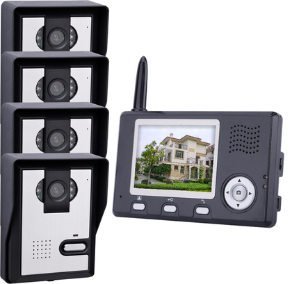 "VD-WJ351C0-4V1 2.4GHz ,Wireless 3.5"" TFT Monitor 300KP Video Door Phone, with 6-IR LED Night Vision,.."