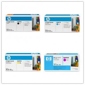 HP Q6000A Q6001A Q6002A Q6003A Remanufactured Toner Cartridges Combo Set