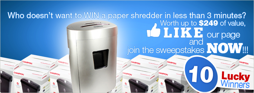 facebook paper shredder contest