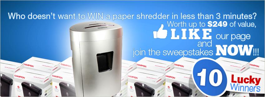 facebook paper shredder contest