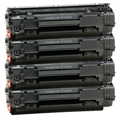 HP 35A (CB435A) New Compatible Black Toner Cartridge 4 PACK