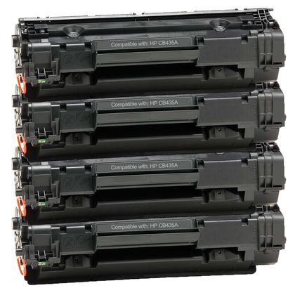 HP 35A (CB435A) New Compatible Black Toner Cartridge 4 PACK