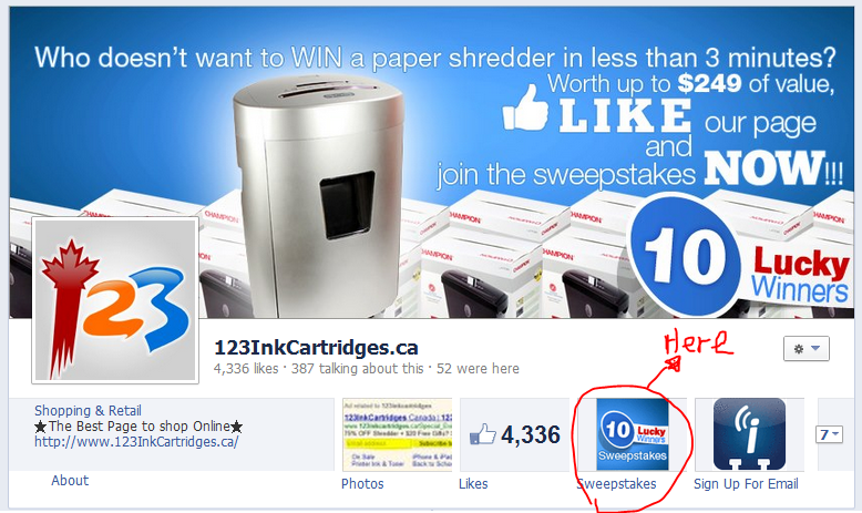 Paper shredder promotion