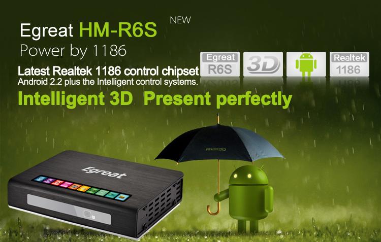HM-R6S PRO Network 3D 1080P HD Media Player w/ USB3.0 /YPBPR / SD / HDMI1.4 / SPDIF / AV/LED panel display