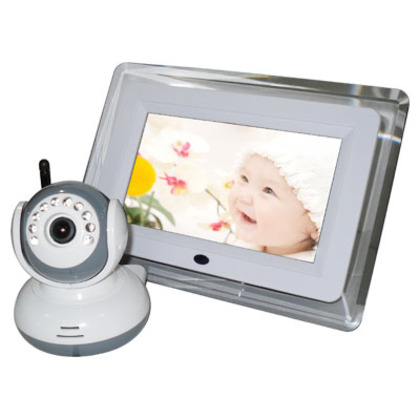 """BM-9070D 2.4GHz Wireless 7"""" LCD Digital Baby Monitor ,with Night Vision ,Two-way communication"""