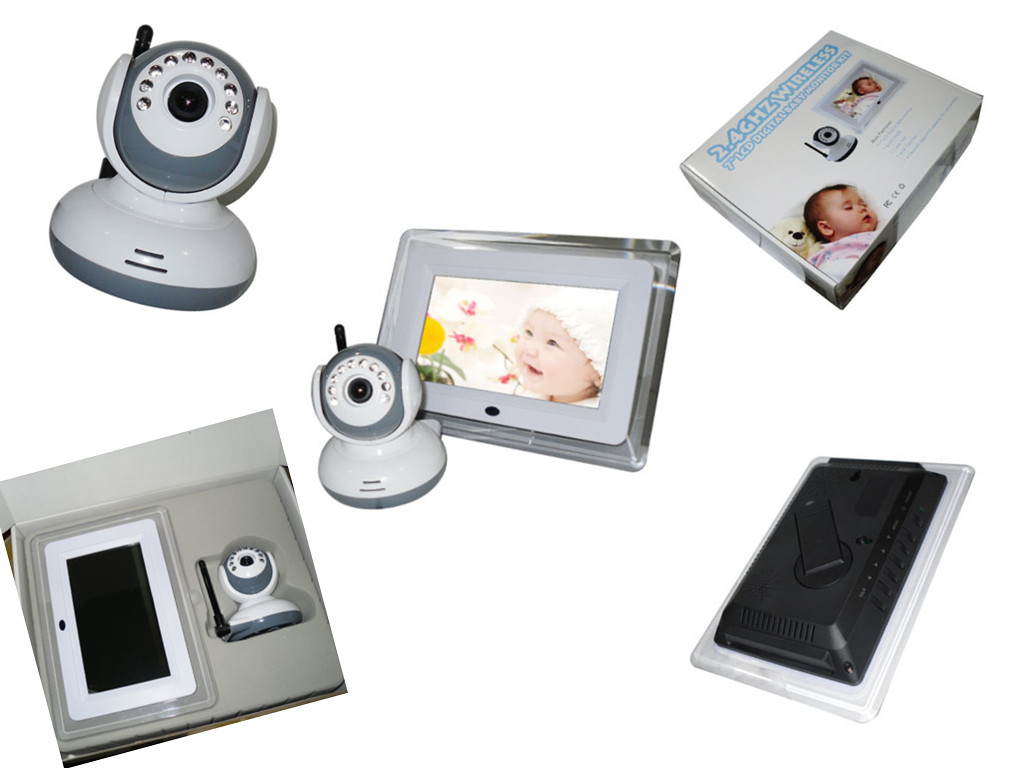high quality of 2 4ghz wireless 7 lcd digital baby monitor with night vision 123inkcartridges. Black Bedroom Furniture Sets. Home Design Ideas
