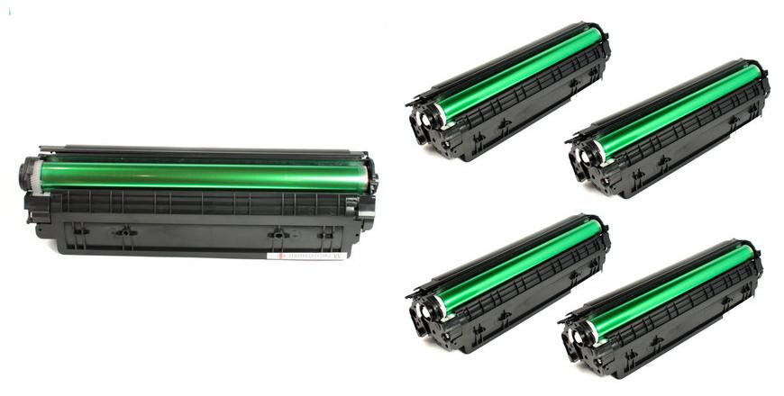 HP 36A (CB436A) New Compatible Black Toner Cartridge 4/PACK