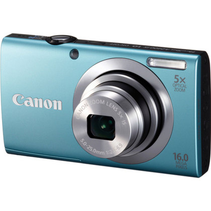 "CANON POWERSHOT A2400IS BLUE 16MP 5X WIDE ANGLE 3""LCD"