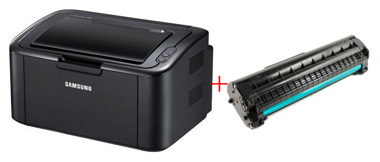 SAMSUNG ML-1675 Monochrome Laser Printer and D104s