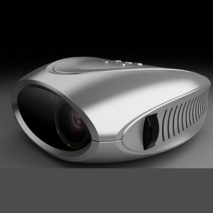 PR-BLC-007 sliver mini projector, 960*320RGB, 80 ANSI Lumen, Max to 800lumen, TV, SD, USB, AV-IN / OUT