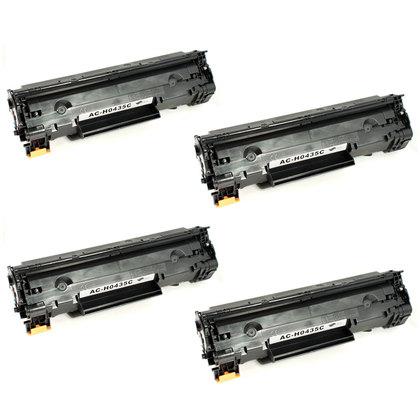 HP 35A (CB435A) New Compatible Black Toner Cartridge 4/PACK