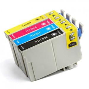 Epson T124 New Compatible Cartridges Value Pack (BK/C/M/Y)