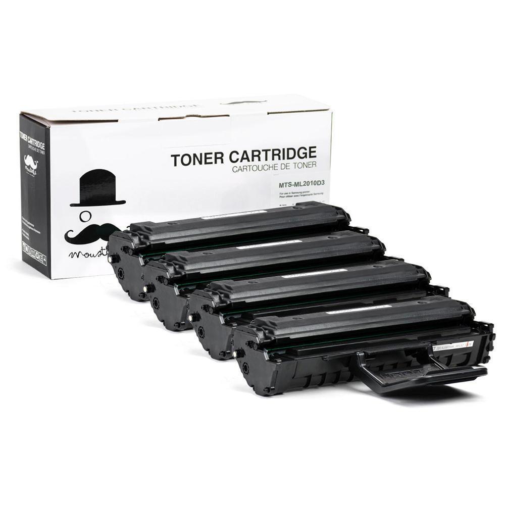 Samsung ML-2010D3 Compatible Black Toner Cartridge High Yield - Moustache® - 4-Pack