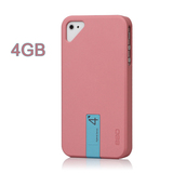 iPhone 4 4S Snap Case Hybrid Series with 4GB USB Flash Disk, Pink