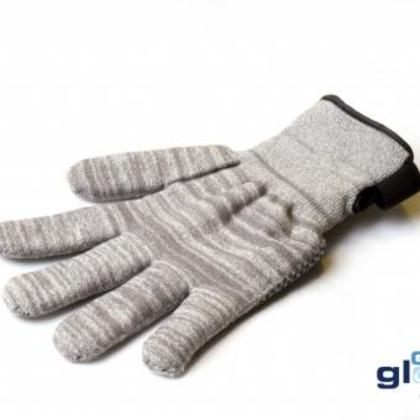 gray winter style glider gloves