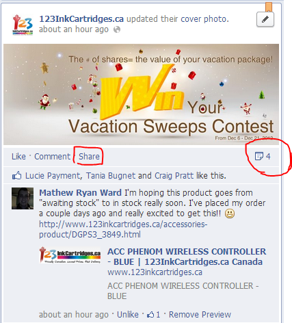 step 1 share this post for 123inkcartridges facebook