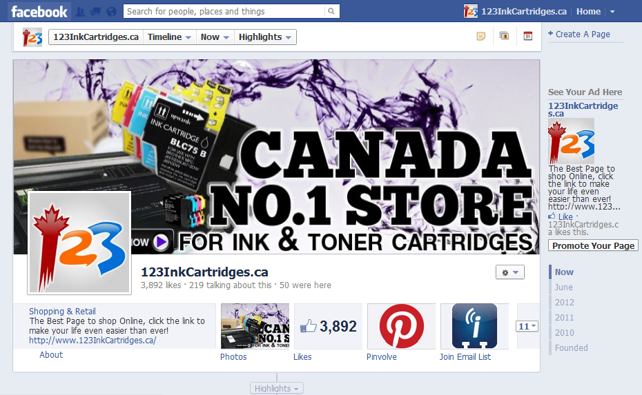 Click to enter 123inkcartridges-facebook