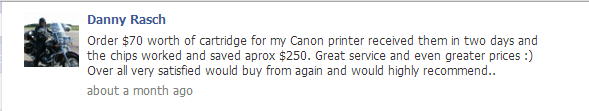 123inkcartridges review on facebook