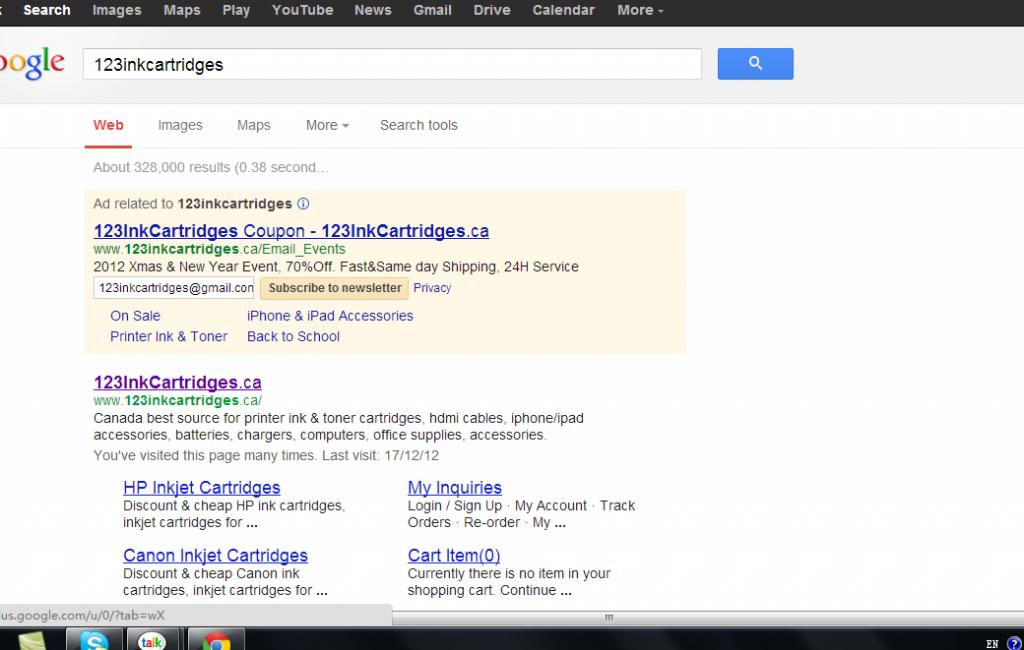 123inkcartridges on google
