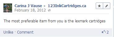 facebook comment for 123inkcartridges