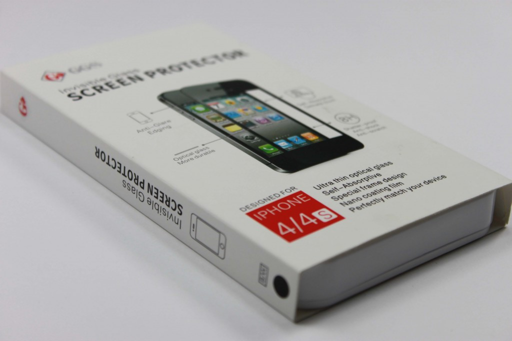 GGS Invisible GLASS Screen Protector open box 1