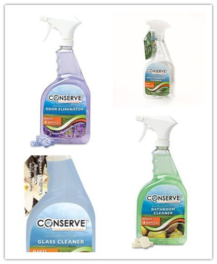 Conserve Cleaner-One Gallon-Four32oz-Refills-Sage