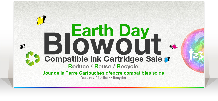 Earth day Blow out InkCartridges promotion
