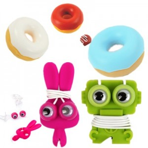 Kikkerland® BunnyBuddy Ear Buds And Cord Wrap