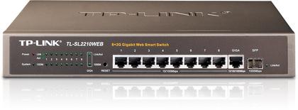 TP-LINK L8-Port 10/100Mbps + 2-Port Gigabit Web Smart Switch